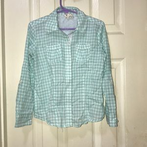 Other - Girls Long Sleeve Aqua Shirt - Size 6x